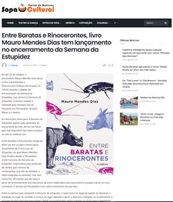 Entre Baratas e Rinocerontes, livro Mauro Mendes Dias tem lançamento no encerramento da Semana da Estupidez